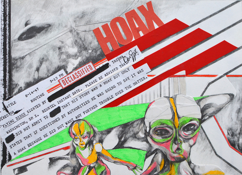 «Fake hoax» - 26,5 x 19,5 cm - 2017 - collage, mixed media on paper