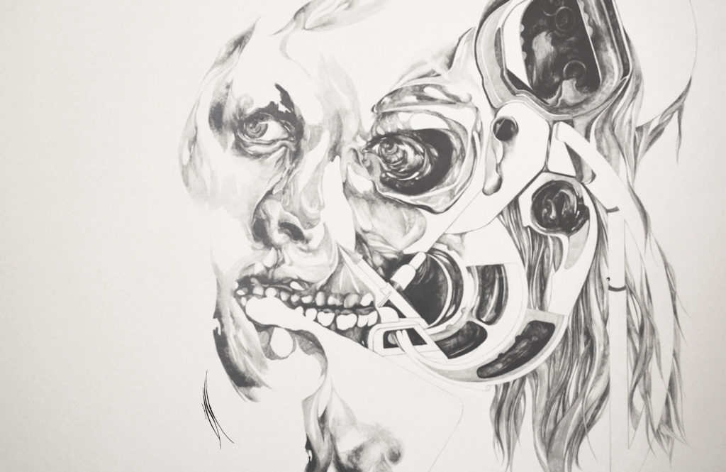 « Corrupted » - 54 x 34 cm (21 x 14 in) - 2015 - lead pencil